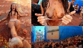 Cumpliendo el sueño de follar en La Tomatina de España